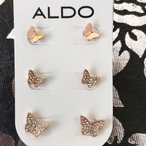 🦋ALDO Earrings Set - Rose Gold Butterflies